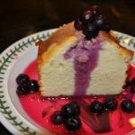 Buttermilk Pound Cake with Limoncello Blueberry Sauce