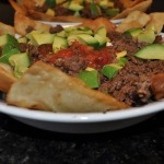Taco Salad with Fried Flour Tortilla Strips