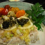 French Fridays with Dorie ~ a Two-fer!  Chunky Beet Salad, Mahi-Mahi and Tomatoes en Papillote, and Parsley Potatoes