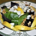 Pear, Gorgonzola, and Walnut Salad with Sherry Vinaigrette