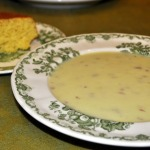 Cream of Potato and Leek Soup with Southern Corn Bread