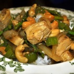 Cashew Chicken with Asparagus and Rice