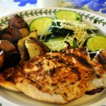 Grilled Chicken, Iron Skillet Roasted Red Potatoes, Sauteed Zucchini