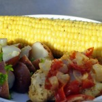Dinner on the Grill ~ Chicken Foil Pouches, Corn on the Cob, and Parsley Potatoes