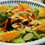 Tangerine and Almond Salad and Spicy Tangerine Chicken with Black Rice