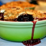 Vintage Kitchen Notes:  Cherry Almond Crumble
