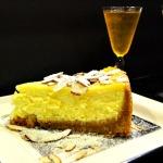 Baked Sunday Mornings: Orange Almond Ricotta Cheesecake