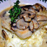 Cooking with Wine: Boneless Pork Chops in White Wine Reduction Cream Sauce over Sour Cream Mashed Potatoes