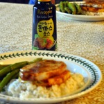 Grilled Pork Cutlets and Pineapple Over Coconut Rice with Korean Pineapple Sauce