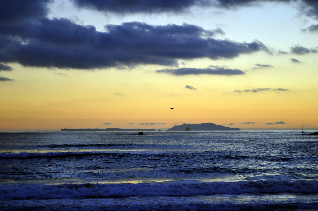 Anacapa Island at dusk