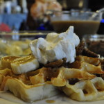 French Fridays with Dorie: Waffles and Cream (with Whiskey Caramel Sauce)