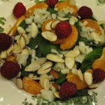 Spinach Salad with Lemon-Raspberry Vinaigrette