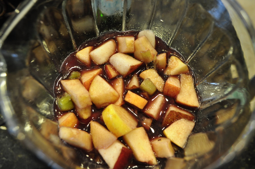 The wine-soaked fruit makes a delicious dessert!