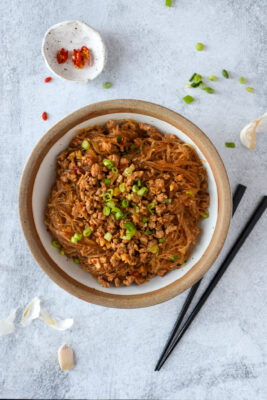 Spicy Glass Noodles with Pork (Ants Climbing a Tree)