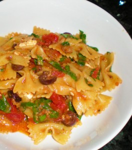 Greek Arrabiata Pasta with Sausage 008
