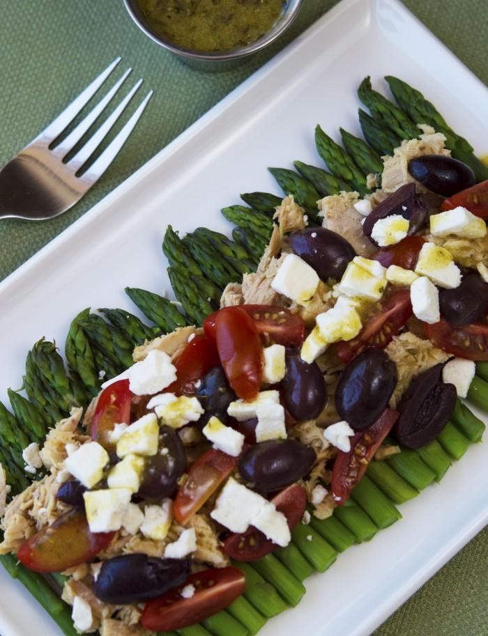 Photoshopped for web Greek Tuna and Asparagus Salad