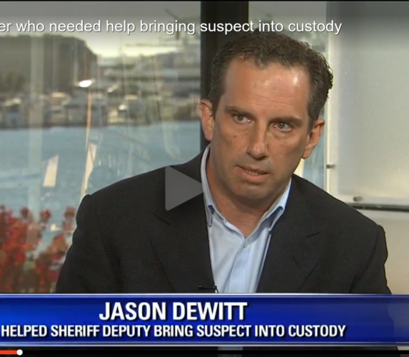 Jason DeWitt on Fox local news.