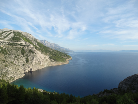 Coastline of the Makarska Riviera