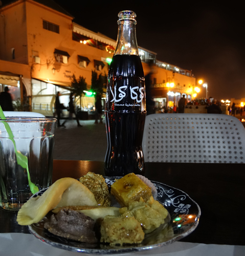 Pastries, soft drinks and curses from little beggars on Place Jamaa El Fna