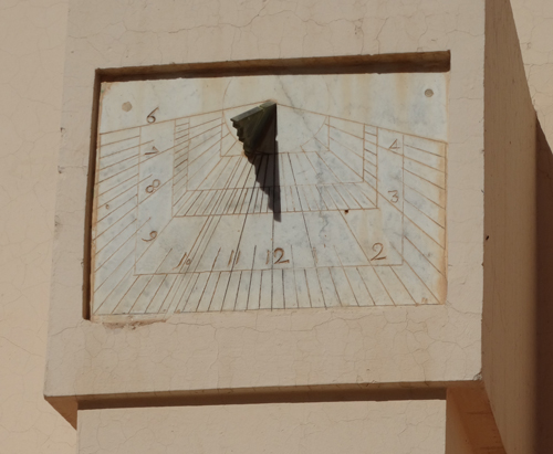 Working sundial at Zaouia Sidi Bel Abbès Mosque