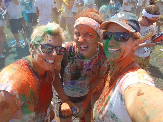 Colour Run aftermath on the Sunshine Coast with the lovely Zara