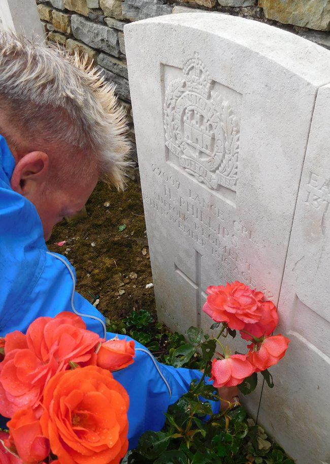 Luke Copse British Cemetery, RIP Mr Phillips