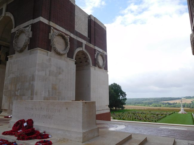 The views are amazing from the Thiepval Memorial stone