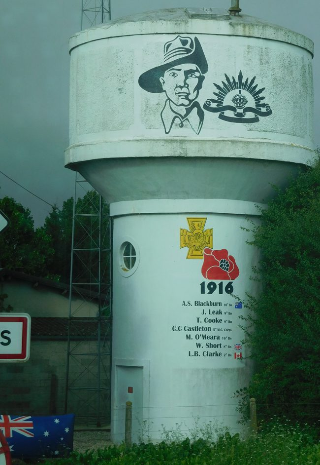 Pozieres water tower
