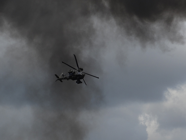Chopper display included blowing things up and then fleeing the scene