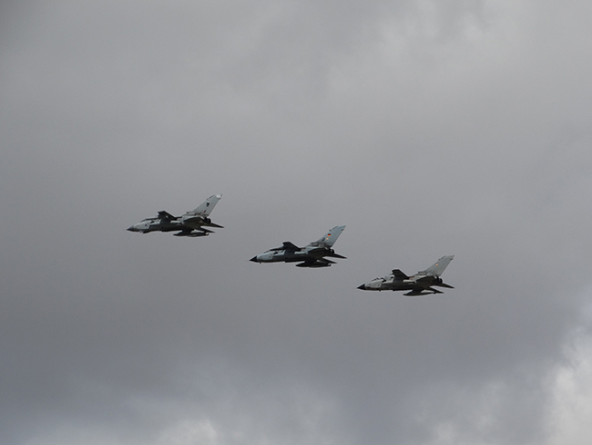 Tri-National Tornado Training Establishment flypast of 3 Tornados