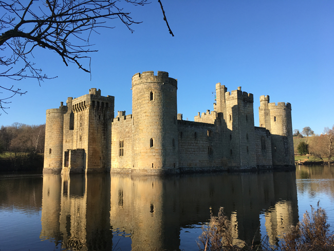 Bodium Castle, looking good - at least from the outside - for over 620 years.