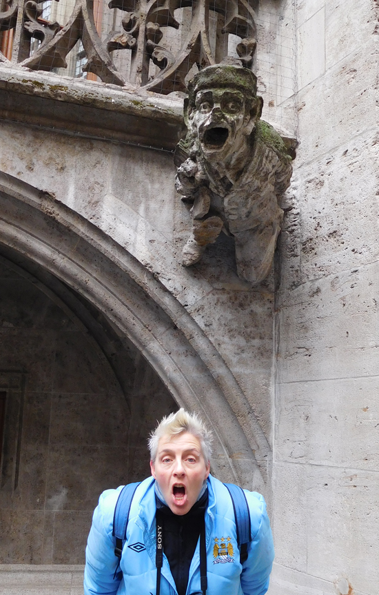 The courtyard behind the New Town Hall has some very photogenic gargoyles.