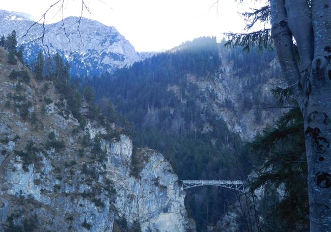 Marienbrucke - Marie's Bridge - all the better to see Neuschwanstein Castle from my dear.