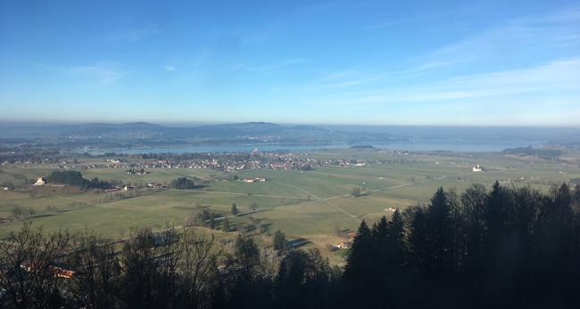 View over the valley from Neuschwanstein Castle