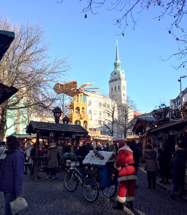 Quaint Christmas Market with great wurst and sauerkraut.