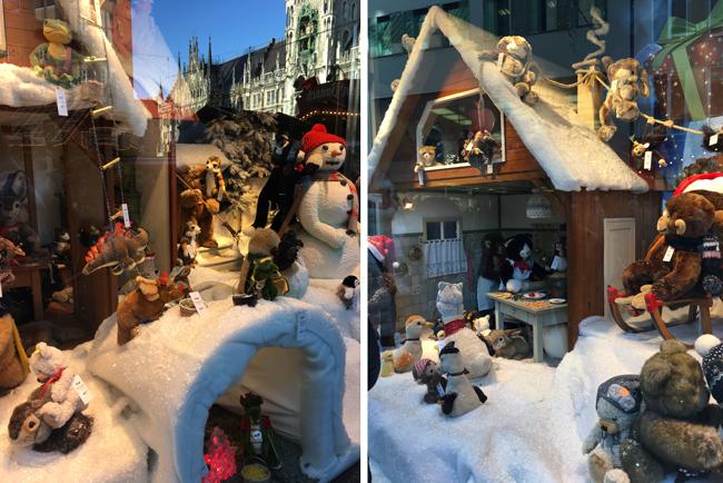 Christmas cuteness in shop windows around Marienplatz
