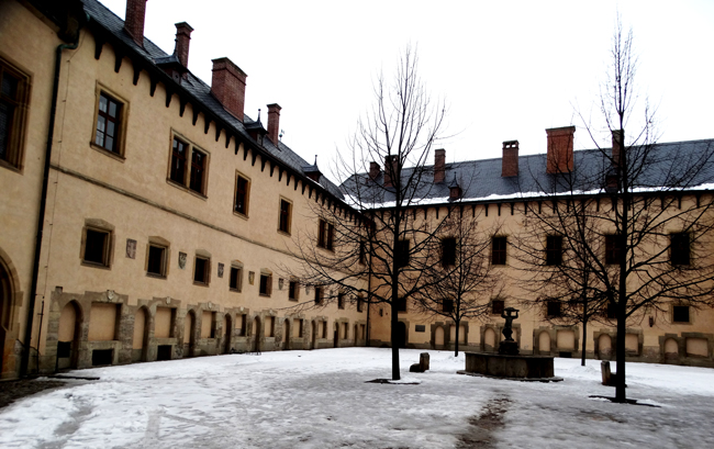 The Courtyard of the Italian Court & Royal Mint, Kutna Hora.