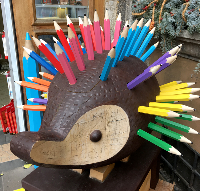 I love stationery, so this giant hedgehog made me spontaneously squeal with delight!