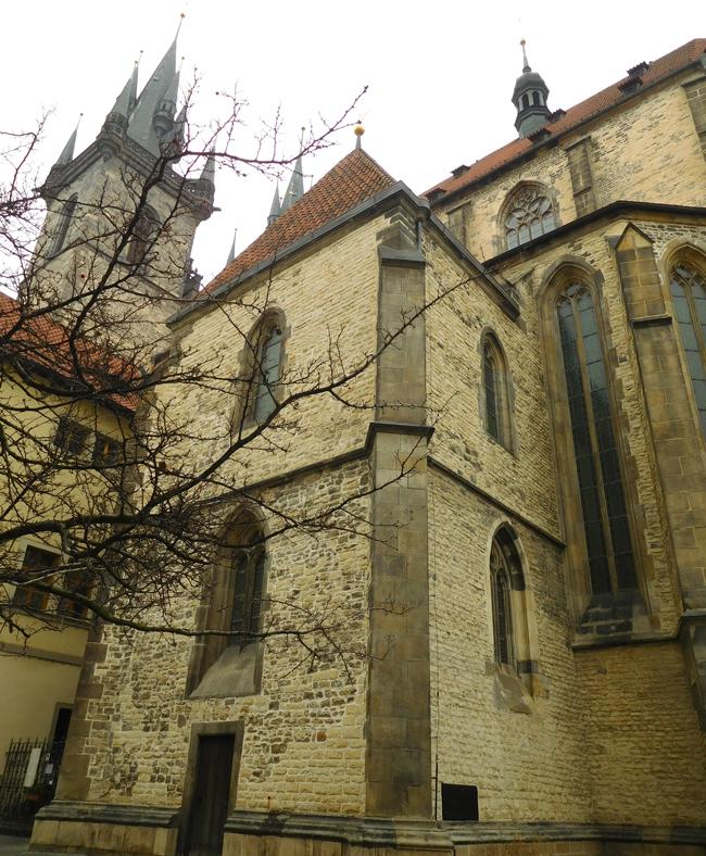 Tyn church from the rear