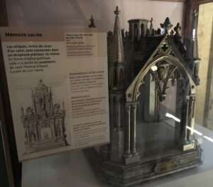 Thomas Aquinas' reliquary in the Church of the Jacobins.