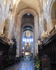 The marble altar of Saint Sernin Basilica was consecrated by Pope Urban in 1096.