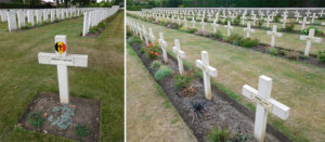 Poperinghe New Military Cemetery holds the graves of Commonwealth and French soldiers, as well as a handful of nurses who tended to the wounded in the field hospitals and clearing stations located in the town.