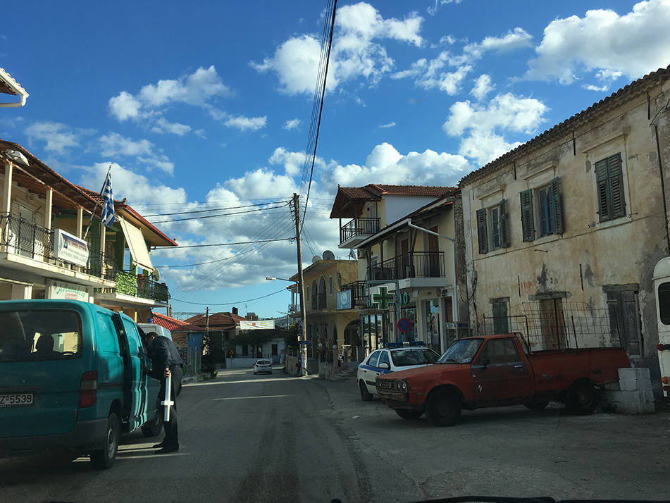 Road-tripping through tiny Zante towns - this place looked pretty handy if you need to buy a cross