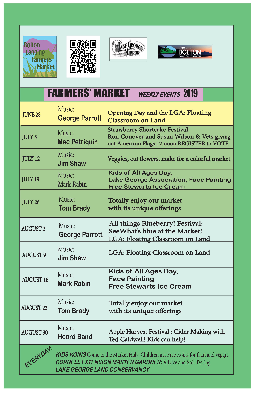 events calendar 2019