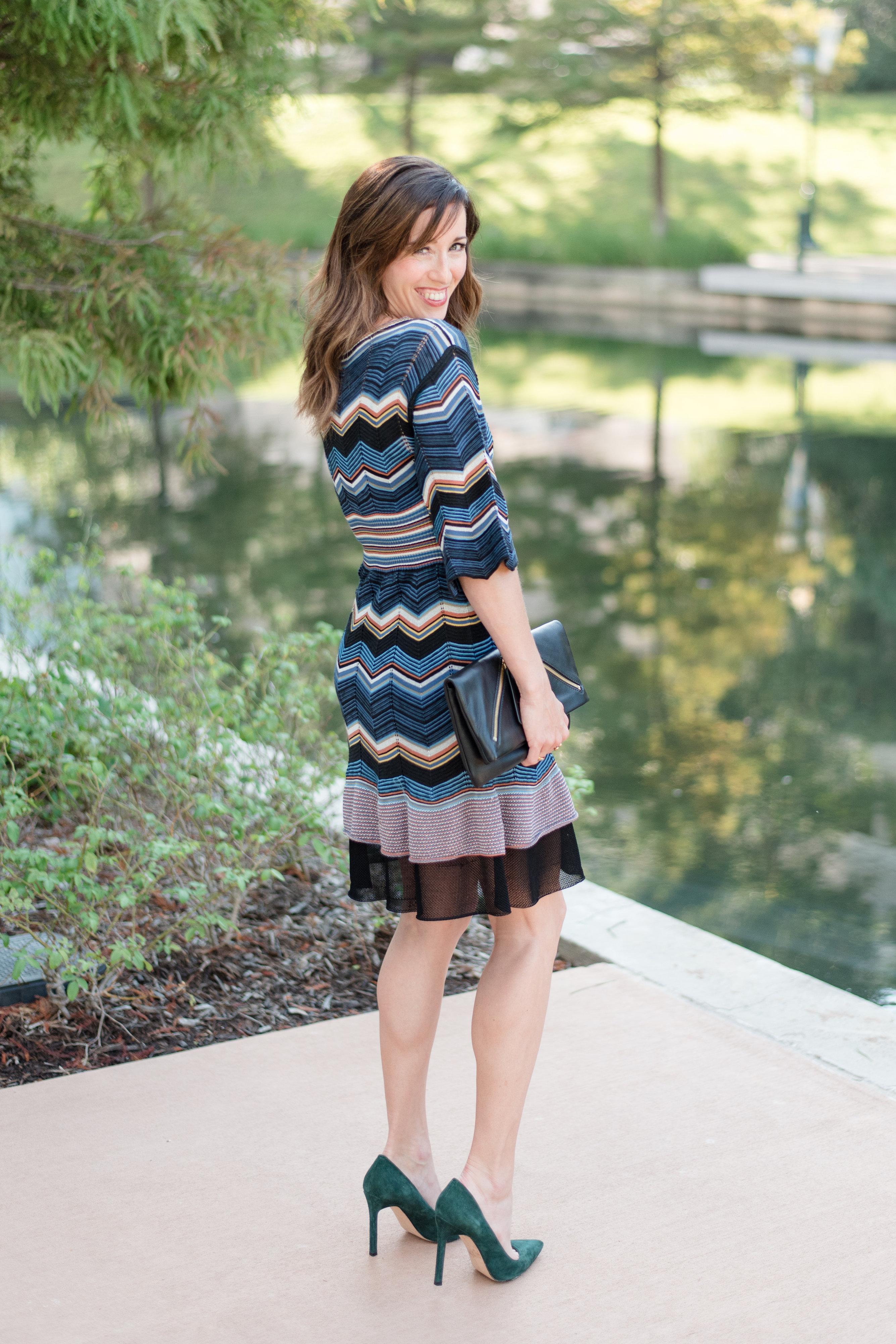 My favorite fall dress, fall, fashion, knit dress, zig zag, Missoni, designer, my style, fall fashion, sweater weather, wardrobe stylist, your stylist, method39
