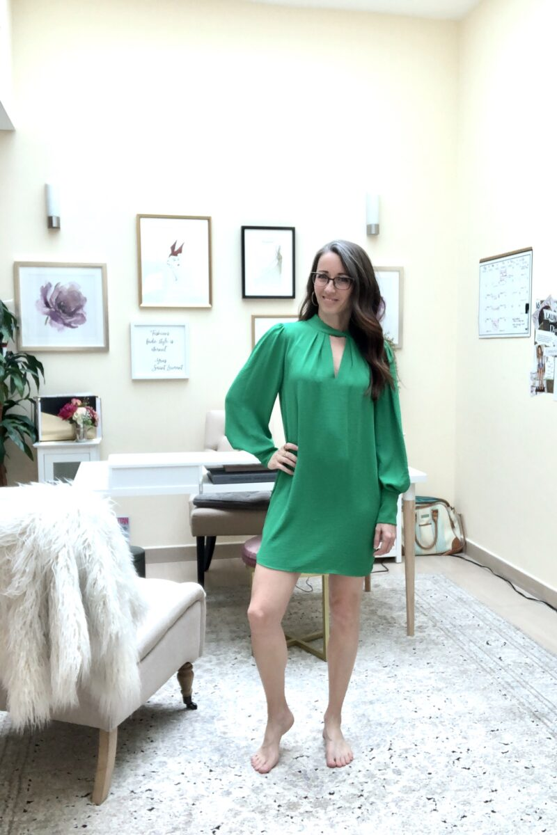 method39, style advice, style advisor, find your style, wardrobe, versatility, finish the look, accessorize, casual, everyday style, dressed up, green dress, six ways, styled by me, wear it, dress up, everyday style, layers