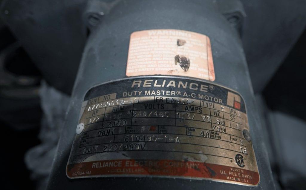 0.5 hp AC Reliance Motor $100 USD