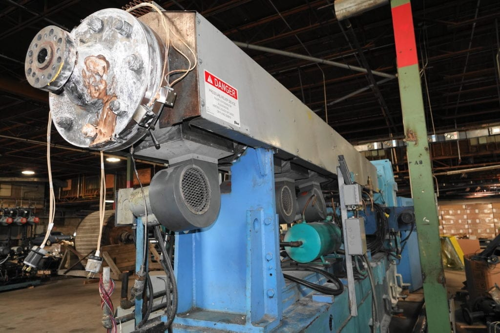 "NRM 6"" Extruder 34:1 with spare screw, 400 hp drive  $30000 USD"