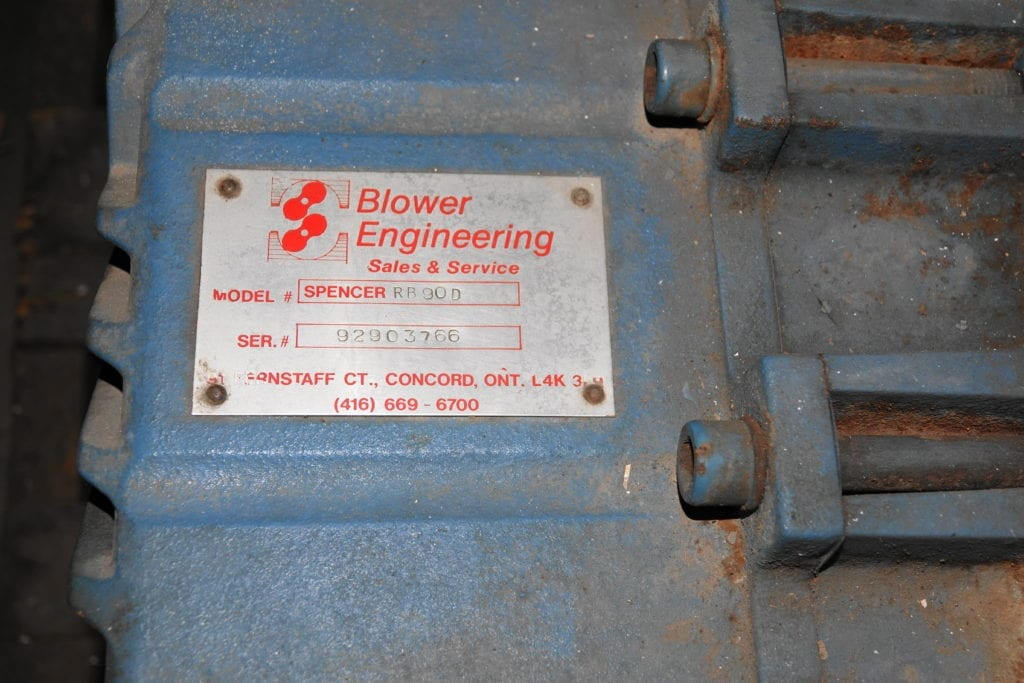 Raubush Blower (rebuilt) - Blower Engineering $2500 USD