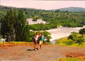 Rick and I near the source of the Nile in Jinja